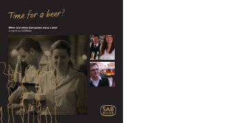 Download the 2008 Time for a Beer? report PDF (3.06Mb) - SABMiller