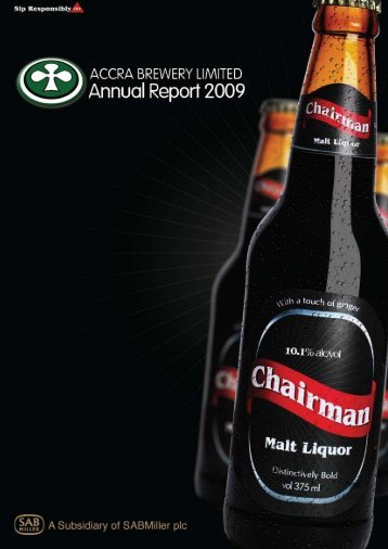 Accra Brewery Limited Annual Report 2009 - SABMiller