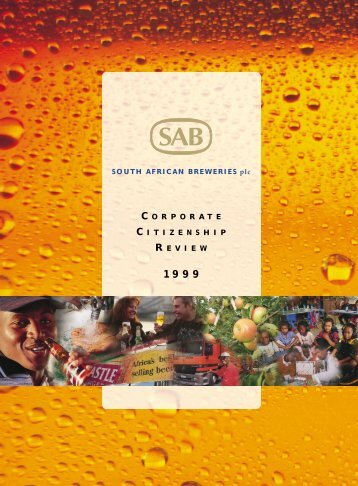 Download the Corporate Citizenship Review 1999 ... - SABMiller