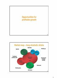 Opportunities for profitable growth Market map – long ... - SABMiller