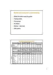 Market and consumer understanding - SABMiller