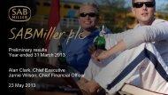 Download UK Investor presentation PDF - SABMiller