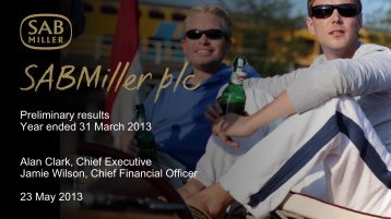 Download UK Investor presentation PDF - SABMiller