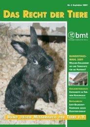 RDT 3/2009 - Bund gegen Missbrauch der Tiere ev
