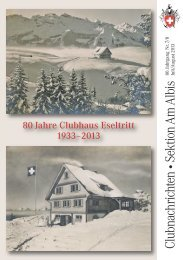 Clubnachrichten •Sektion Am Albis - SAC Sektion Albis