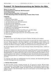 Protokoll der 115. GV vom 19.1.2012 - SAC Sektion Albis