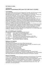 Seniorentourenwesen 2012 - SAC Sektion Albis