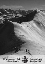 Schweizer Alpen-Club Sektion Am Albis ... - SAC Sektion Albis