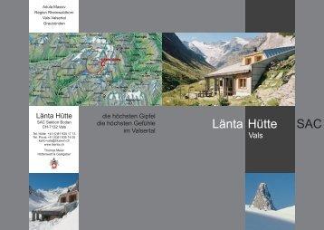 Prospekt Läntahütte - SAC Sektion Bodan