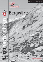 Bergwärts 03 - 2013 - SAC Sektion Bodan
