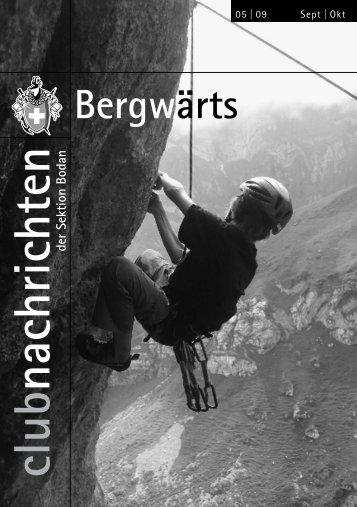 Bergwärts - SAC Sektion Bodan