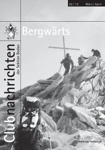 Bergwärts 02 - 2012 - SAC Sektion Bodan