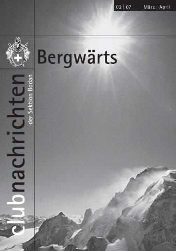 Bergwärts 2 - SAC Sektion Bodan