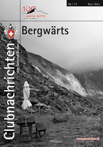 Bergwärts 06 - 2013 - SAC Sektion Bodan