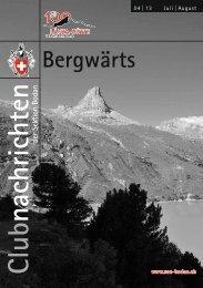 Bergwärts 04 - 2013 - SAC Sektion Bodan