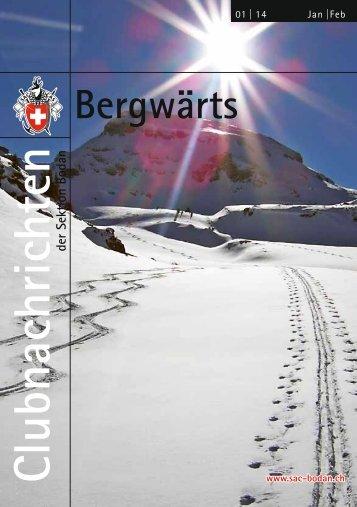 Clubheft Bergwärts - SAC Sektion Bodan