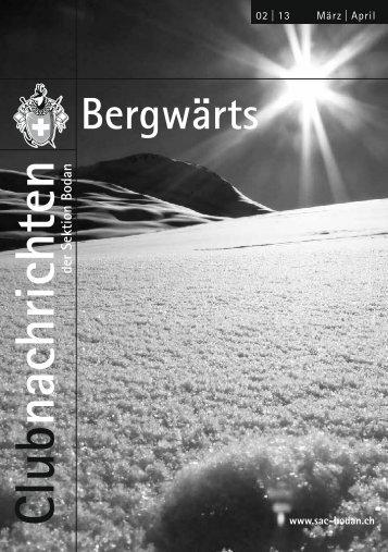 Bergwärts 02 - 2013 - SAC Sektion Bodan