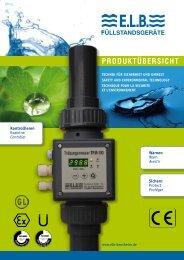 Overview - E.L.B. Füllstandsgeräte Bundschuh GmbH+Co.