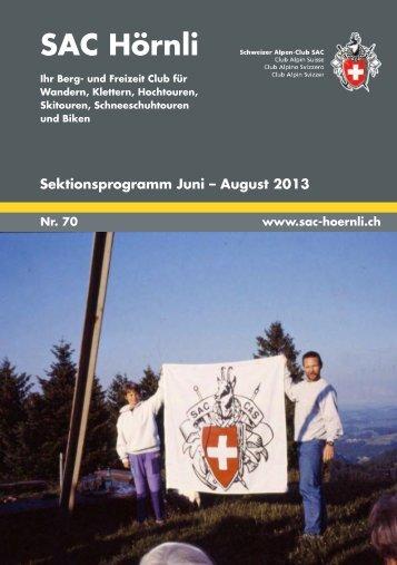 SAC-Hoernli Bulletin Nr. 70 - SAC Sektion Hörnli