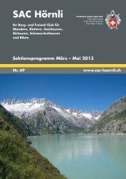 SAC-Hörnli Bulletin Nr. 69 - SAC Sektion Hörnli