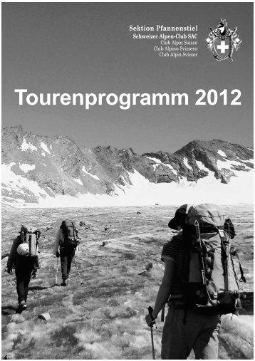 Tourenprogramm 2012 - SAC Sektion Pfannenstiel