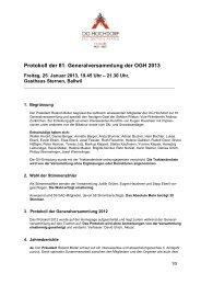 Protokoll der GV 2013 - SAC Sektion Pilatus