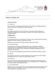 Reglement / Ortsgruppe Napf I. Name, Sitz, Zweck Art. 1 Name, Sitz ...