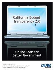 California Budget Transparency 2.0 - The Sacramento Bee