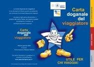 Carta doganale del viaggiatore - Aeroporto di Napoli