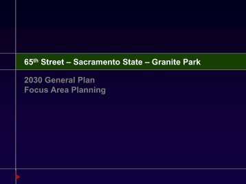 Sacramento State - City of Sacramento General Plan Update