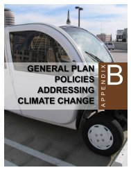 Appendix B - General Plan Policies Addressing Climate Change