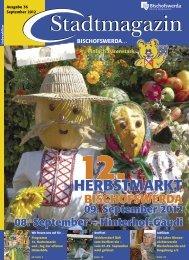 nur in Bischofswerda Herbstaktion  vom 01. -08. September