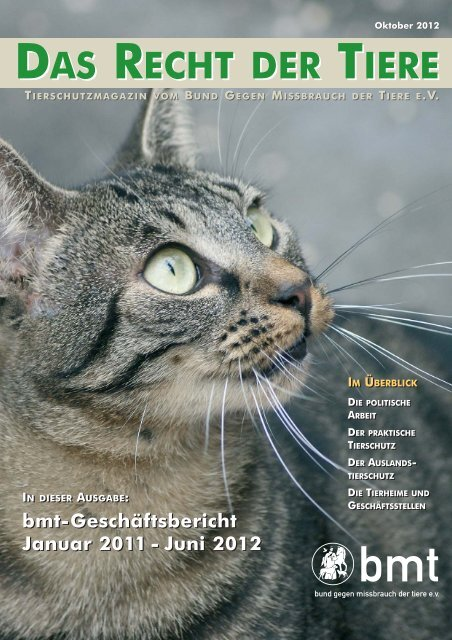 das recht der tiere das recht der tiere - Bund gegen Missbrauch der ...
