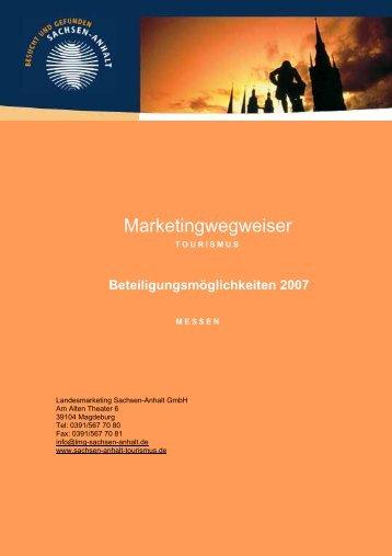 Marketingwegweiser - Sachsen-Anhalt