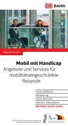 Mobil mit Handicap - Angebote und Services für - Bahn