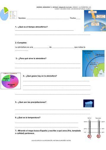 examen unidad 5. la atmósfera, los climas y los seres ... - Aula PT