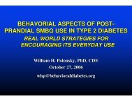 behavorial aspects of post- prandial smbg use in type 2 ... - CODHy