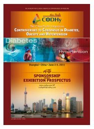 controversies to consensus in diabetes, obesity and ... - CODHy