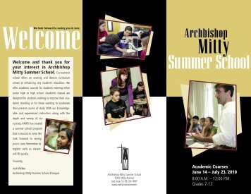 Summer School - Archbishop Mitty High School