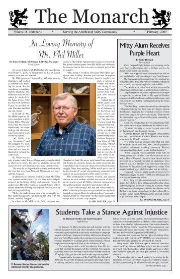 The Monarch Edition 18.3 February 2009 (pdf) - Archbishop Mitty ...