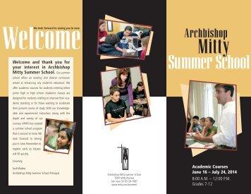 Brochure (pdf) - Archbishop Mitty High School