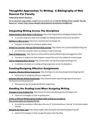 uleth annotated bibliography