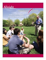 The 2006-07 Annual Report and Honor Roll - Albright College