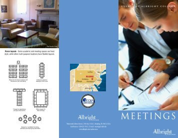 Download our Meetings Brochure - Albright College