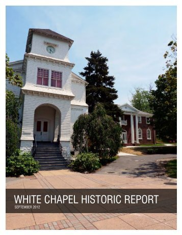 WHITE CHAPEL HISTORIC REPORT - Albright College