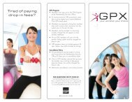 to download the GPX brochure - Bellevue Club