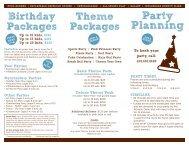 Birthday Party Brochure - Bellevue Club
