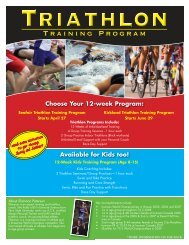 Training Program - Bellevue Club