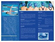 Designed to meet the needs of swimmers ages 5 ... - Bellevue Club