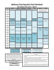 Indoor Pool Schedule - Bellevue Club